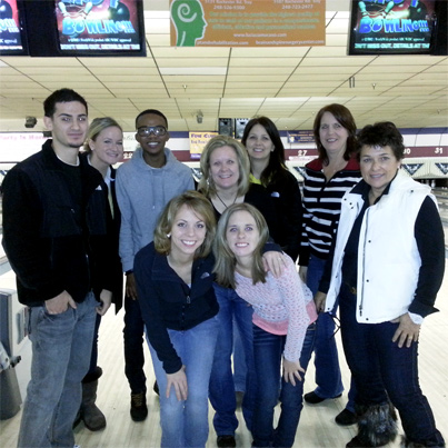 Bowling Party at Troy Lanes, December 29, 2012