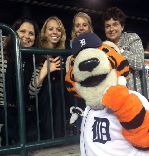 Dr. Zamorano and team at Detroit Tigers Game