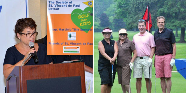 Dr Lucia Zamorano President Michigan Brain and Spine Surgery Center was the Golf Chair at the SVDP Golf Outing at PLCC June 23 2014. All the proceeds of the event are to be used to send Children to Camp.